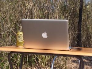 Macbook Proと原野