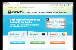concrete5公式サイト