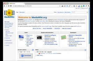 Wikipediaと同じシステムのMediaWiki