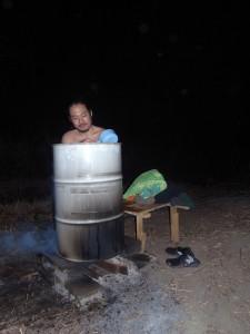 20数年ぶりのドラム缶風呂
