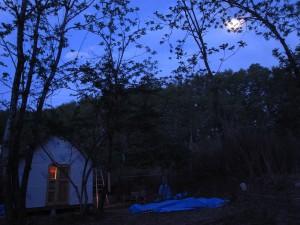 この日は月が綺麗でした