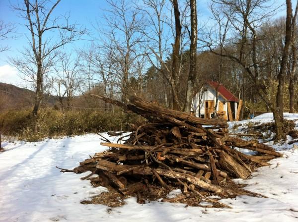 雪原の破滅小屋