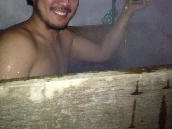 お風呂に紹興酒を入れる