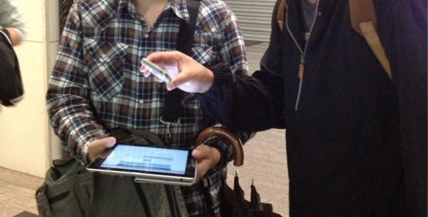 iPadでチケットを承認する猛者あらわる