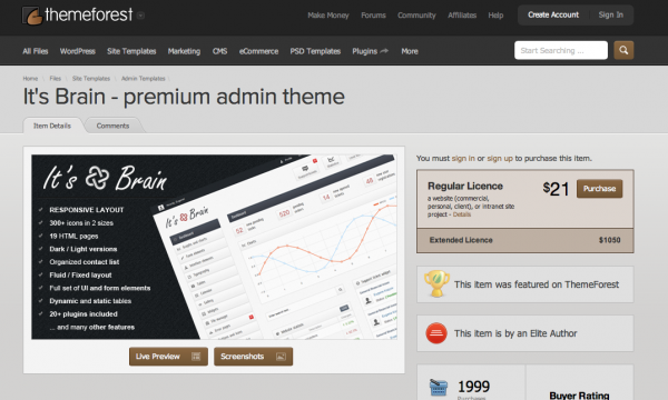 It's Brain - premium admin theme
