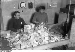 Vernichtung von Papiergeld