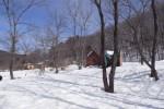 見渡す限りの大雪原になった破滅小屋