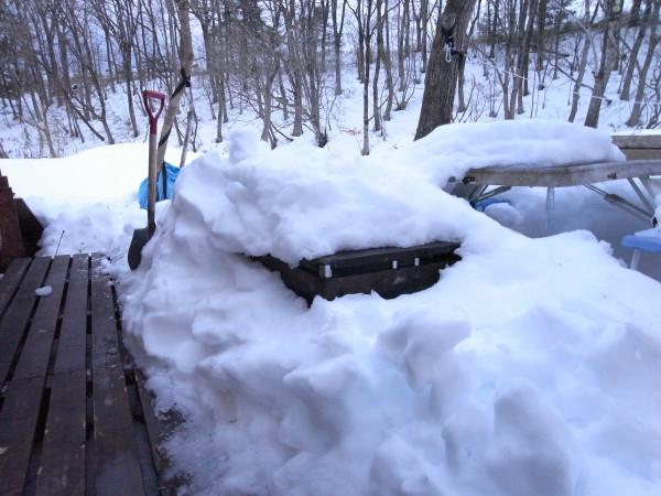 テラスにもこんな積雪
