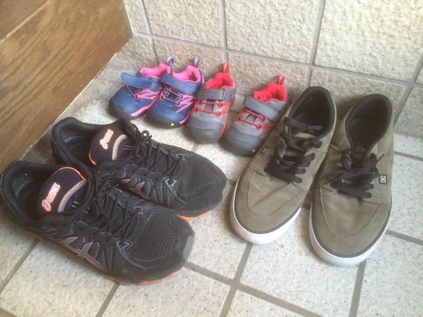 この間、子供の靴買った