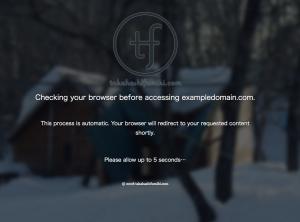 CloudFlareのI'm under attackページ
